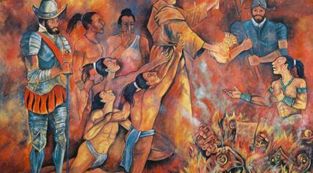 El frayle español que quemó todos los códices maya