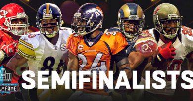 La NFL da a conocer a los 25 semifinalistas para el Hall Of Fame 2019