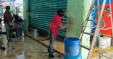 Realizarán limpieza integral al mercado municipal de Álamo