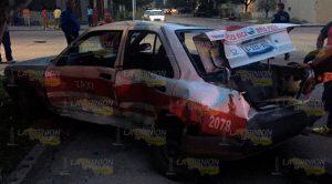Taxista Provoca Aparatoso Accidente