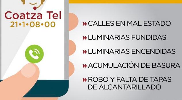 Coatzatel línea telefónica para atender demandas ciudadanas