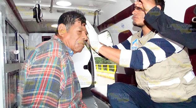 Septuagenario que viaja en burro es embestido por taxi (4)