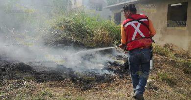 Incendio de pastizal casi llega a viviendas en Cerro Azul