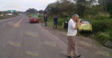 Reportan accidente vehícular en la federal Tuxpan-Tampico