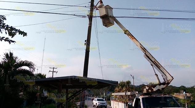 Amplían iluminación a sectores inseguros de Coatzintla