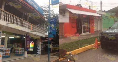 Atracan una quesería y una tienda de pintura en Poza Rica