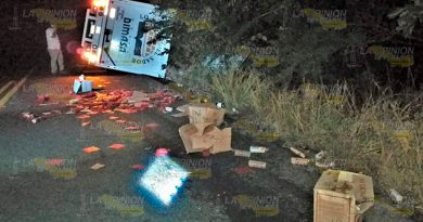 Brutal choque en la carretera Naranjos-Ozuluama; 1 muerto