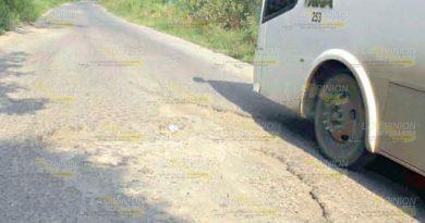 Caminos destrozados, urge entrada a proyecto 2019