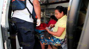 Familia lesionada en fuerte choque en colonia de Poza Rica