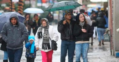 Frente frío 26 causará bajas temperaturas y lluvias en el país