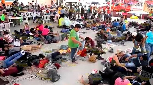 Más de 2 mil migrantes centroamericanos avanzan por Oaxaca