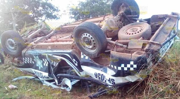 Mueren policías sobre la autopista La Tinaja- Cosoleacaque
