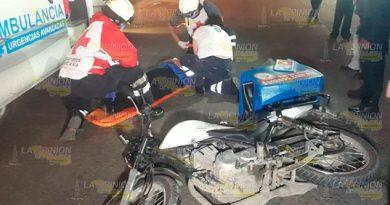 No entregó la pizza tras derrapar con la moto en Martínez de la Torre