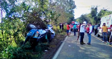 Se duplica cifra de accidentes en la ruta Naranjos Chontla
