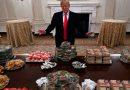 ¿De lujo? Ajá, sí… La polémica cena de Donald Trump a jugadores de futbol americano