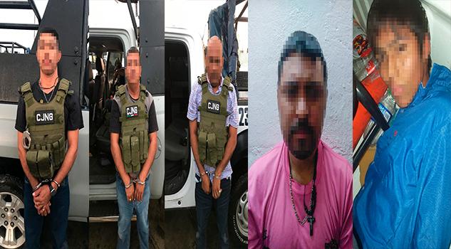 Decomisan armamento y drogas en Cotaxtla y Coatzacoalcos; cinco detenidos