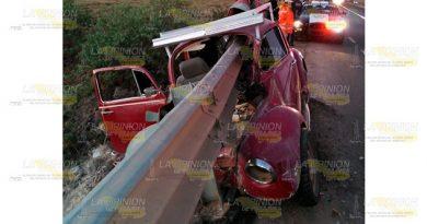 ¡Horrible muerte en la autopista Apizaco - Tejocotal!