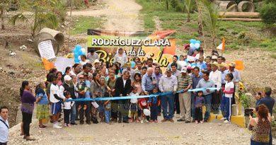 Ayuntamiento de Álamo entrega puente en Rodríguez Clara