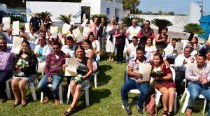 Bodas colectivas por el día de San Valentín en Tlapacoyan (1)