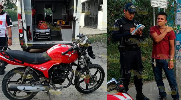 Camioneta derriba a motociclista en Tuxpan