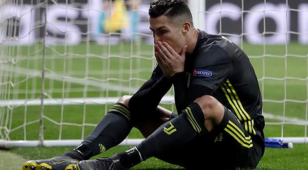Cristiano y la Juve, al borde de la eliminación en Champions