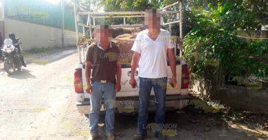 Elementos de la Secretaría de Seguridad Pública (SSP) recuperaron cuatro bovinos de dudosa procedencia y detuvieron a dos personas mientras realizaban un