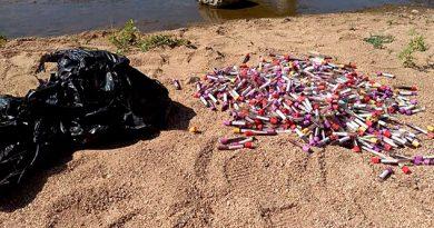 Hallan muestras de sangre abandonadas en río en Chiapas