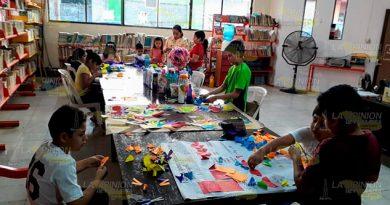 Imparten taller Niños Emprendedores en biblioteca de Cerro Azul