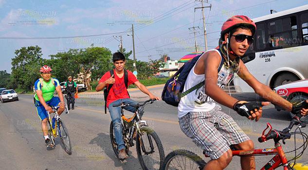 Impulsan uso de bicicleta en Poza Rica