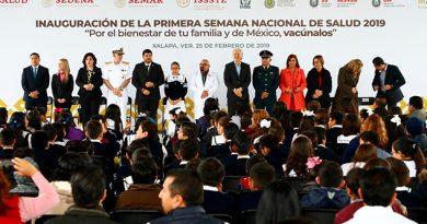 Inaugura Secretaro de Salud la Primera Semana Nacional de Salud 2019