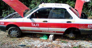 Localizan taxi desvalijado en la desviación a Paguas