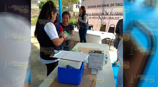 Más de 6 mil dosis contra la Poliomielitis en Tuxpan