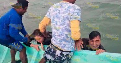 Dramático rescate de turistas en Tuxpan
