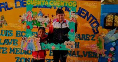 """Niños de Coyutla, ganadores en concurso de """"Cuenta cuentos"""""""