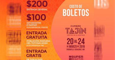 Población indígena, gratis en Cumbre Tajín 2019