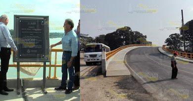 """Quitan placa del puente """"Yunes""""; habitantes de Ojite piden cambiarle nombre"""
