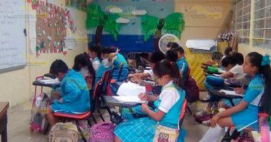 Realizan gestiones para reparar barda dañada en primaria de Poza Rica por temblor en 2018