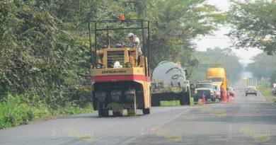 Reanudan trabajos de rehabilitación del tramo Alazán - Cerro Azul
