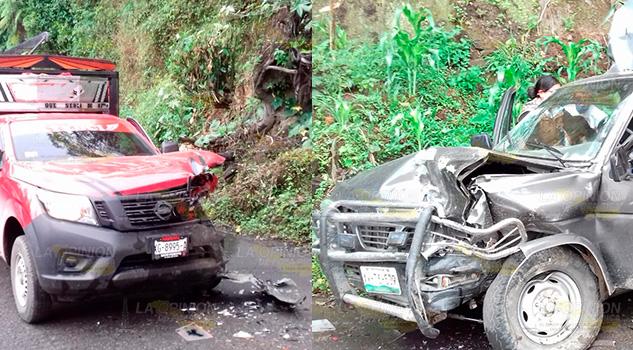 Se impactan dos camionetas en la Tlapacoyan - Atzalan, una menor lesionada