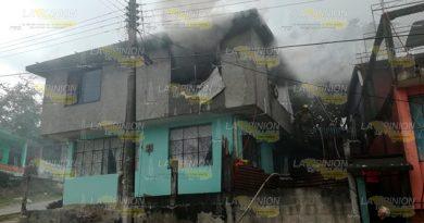 Se quema casa en Tuxpan, deja cuantiosos daños