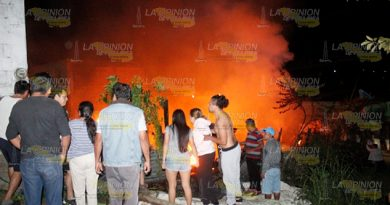 Terror por incendio de una vivienda en Poza Rica
