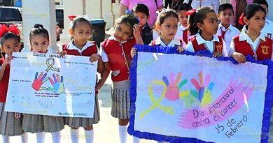 Todos juntos contra el cáncer infantil en Naranjos y Cerro Azul