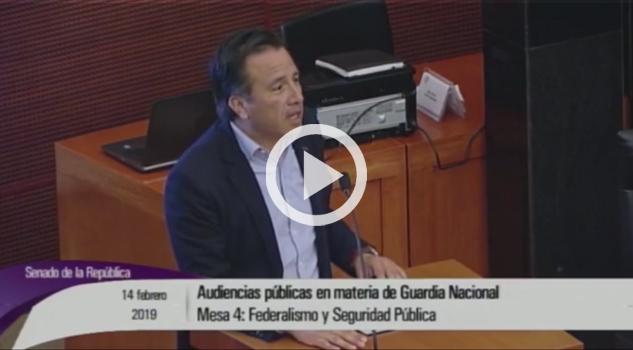Urge aprobar Guardia Nacional; Cuitláhuac García a senadores