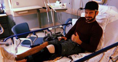 Zac Efron muestra cómo se recupera del delicado accidente que sufrió