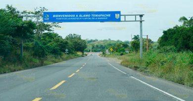 Abandonan reparación de carretera Tihuatlán-Potrero del Llano