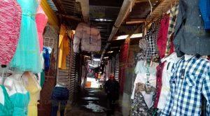 Anegamiento por lluvia en el mercado Héroes del 47 de Tuxpan