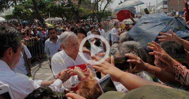 Arriba el Presidente de la República Andrés Manuel López Obrador a Poza Rica
