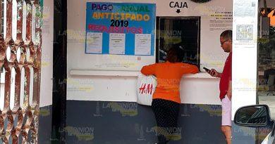 Concluye prórroga en Álamo para pago anual en la CAEV