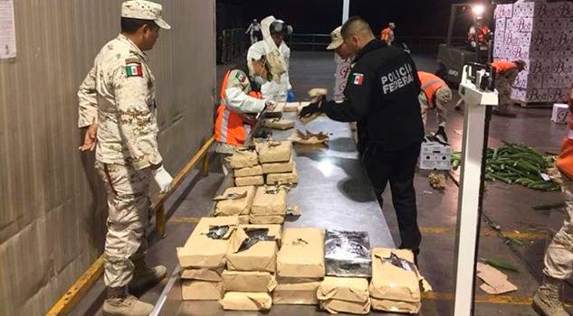 Decomisan cargamento de droga en Sonora