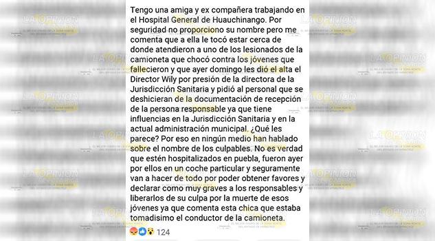 Encubren a homicidas en la Jurisdicción Sanitaria de Huauchinango